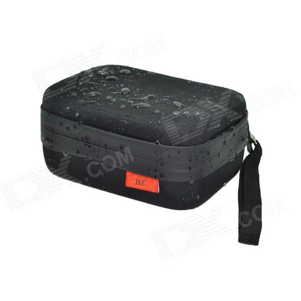 BZ180s Upgraded Version Waterproof EVA Camera Dual-Zipper Bag for GoPro 4/2/3/3+/SJ4000 - Black