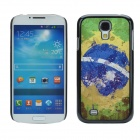 2014 World Cup Unique Brazil Flag Pattern Aluminum alloy Case w/ Card Slot for Samsung Galaxy S4