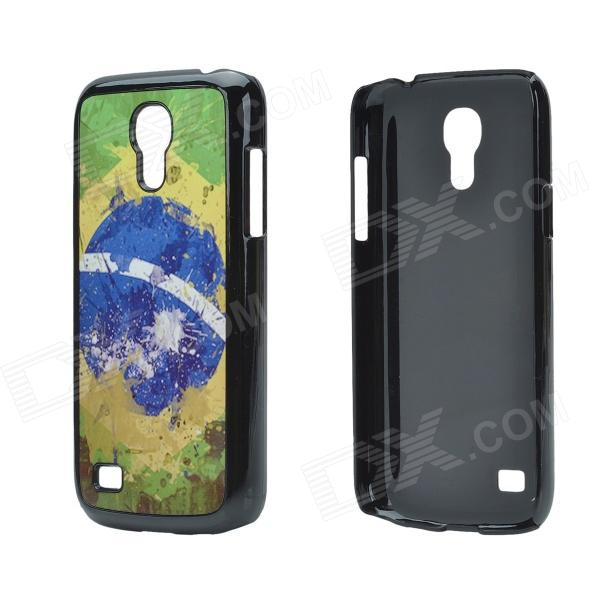 2014 World Cup Unique Brazil Flag Pattern Metal Case Cover w/ Card Slot for Samsung Galaxy S4 Mini