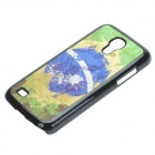 2014 world Cup Brasile unica bandiera modello Metal Case Cover w / Slot Card per Samsung Galaxy Mini S4