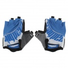 SK-05 Anti-Slip Half-Finger Bicycle Cycling Gloves - Blue + Black + Colorful (Size M)