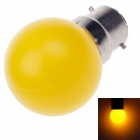 D200004 BR Elite B22 1W 90lm 560~590nm 4-LED Yellow Light LED Bulb (AC 220~250V 50/60Hz)