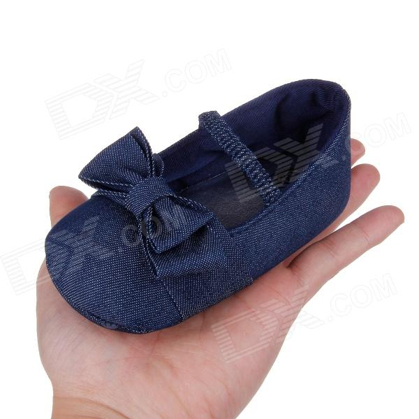 Cute Bowknot Comfortable Baby Shoes Soft Bottom Dark