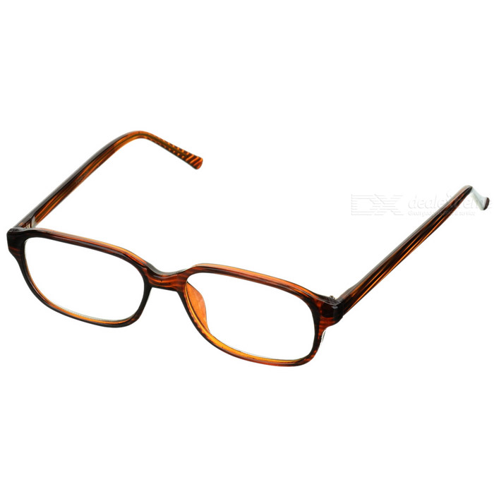 PVC Frame Resin Lens Reading Glasses with Hard Protective Case (+3.50D)
