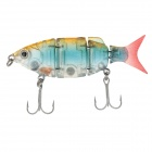 DW25-B Multie Jointed Fishing Lifelike Lure Bait 80mm/10g Fishing Lure with 2 VMC Hooks