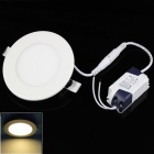 Anti-glaring 15W 1060lm 6500K 15-SMD 3528 LED White Light Ceiling Lamp w/ Driver (AC 85~265V)