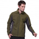 Outdoor Windproof Waterproof Warm Soft Shell Jacket - Army Green (XL)