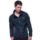 Outdoor Windproof Waterproof Warm Soft Shell Jacket - Navy Blue (XL)