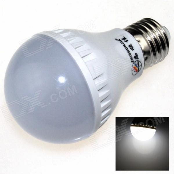 ZHISHUNJIA E27 7W 580LM 6000K 21-SMD 2835 LED White Light Bulb (AC 85~265V) e27 9w 760lm 6000k 30 smd 2835 led white light bulb ac 85 265v
