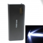 8000mAh Dual USB External Battery Charger Power Source Bank w/ USB Cable for IPAD / IPHONE - Black