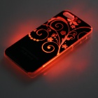 Flores Vine Pattern flash LED que cambia de color la caja protectora ABS Atrás para IPHONE 5 / 5S - Negro