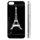 Eiffel Tower Pattern LED Flash Color Changing Protective ABS Back Case for IPHONE 5 / 5S - Black