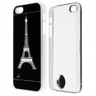 Patrón Torre Eiffel flash LED que cambia de color Funda protectora ABS Atrás para IPHONE 5 / 5S - Negro