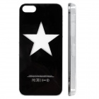 Pentagram Pattern LED Flash Color Changing Protective ABS Back Case for IPHONE 5 / 5S - Black