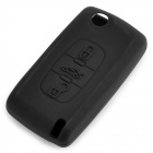GEL14032201 3-button Car Key Silicone Cover for VW Peugeot Citroen 307 / 308 / 407 / 408 - Black
