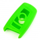 GEL020906 Silicone Car Key Case for BMW X1 / X3 / X5 / X6 / 3 / 5 / 7 Series - Deep Green