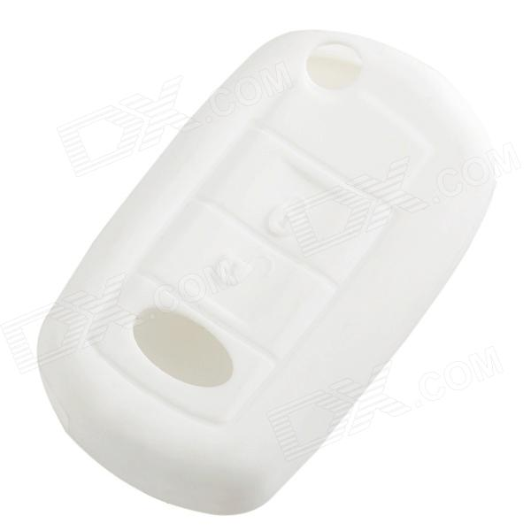 GEL14032203 Car Key Silicone Cover for Range Rover / Land Rover Discovery 4 - White