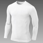 WJH Outdoor Sports Polyester + Spandex Tight Long-Sleeve Shirt for Men - White (L)