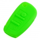 GEL14031611 Silicone Car Key Case for Audi A1 / A3 / Q3 / Q7 / R8 / A6L / TT - Dark Green