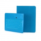 Detachable Bluetooth V3.0 85-Key Keyboard  PU Leather Case for IPAD AIR - Blue