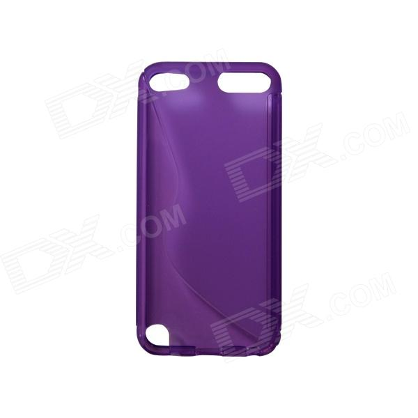 S-Line Style Protective TPU Back Case for IPOD TOUCH 5 - Translucent Purple