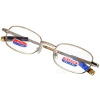 Alloy Frame Reading Glasses with Hard Protective Case (+3.00D)