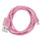 103B Universal USB to Micro USB Data / Charging Cable for Samsung / HTC + More - Pink (100cm)