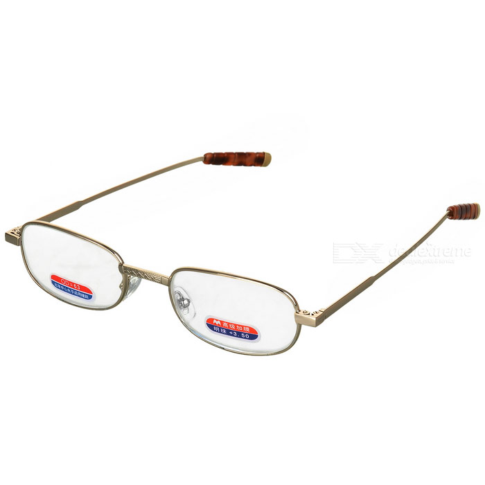 Alloy Frame Reading Glasses with Hard Protective Case (+3.50D) classy alloy framed presbyopia reading glasses with protective case 2 50