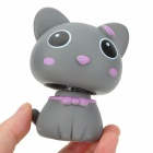Head Shaking Cute Cat Style Toy for Car Decoration - Deep Grey