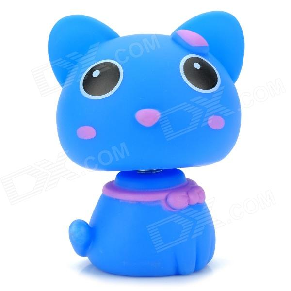 Head Shaking Cute Cat Style Toy for Car Decoration -  Blue maoxin cute cat head finger grip metal ring kickstand for smartphones blue cats