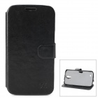 Hualaishi Protective PU Leather + ABS Case w/ Stand for Samsung S4 / i9500 - Black