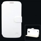 Hualaishi Protective PU Leather + ABS Case w/ Stand for Samsung S4 / i9500 - White