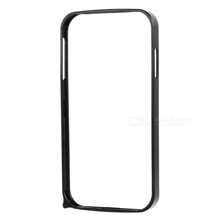 S4-Q Protective Aluminum Alloy Bumper Frame for Samsung Galaxy S4 i9500 - Black fashionable protective bumper frame case with bowknot for samsung galaxy s3 i9300 black