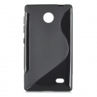 Protective S Pattern TPU Back Case for Nokia X - Black
