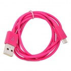 103B Universal USB to Micro USB Data / Charging Cable for Samsung / HTC + More - Deep Pink (100cm)
