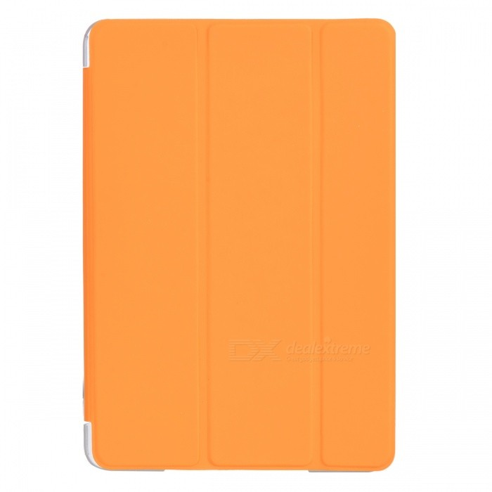 Protective Foldable PU Leather + Plastic Case for IPAD Mini 2 - Orange