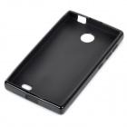X Pattern Protective TPU Back Case for Nokia X - Black