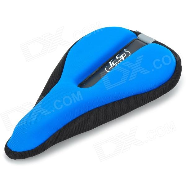 JCSP N-801 Outdoor Cycling Lycra Bike Saddle Pad Cover - Black + Blue muting indoor cycling indoor training station cycling exercise station bike trainer physical for long distance match