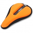 JCSP N-801 Outdoor Cycling Lycra Bike Saddle Pad Cover - Black + Orange
