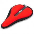 JCSP N-801 Outdoor Cycling Lycra Bike Saddle Pad Cover - Black + Red