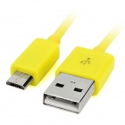 Micro USB Male to USB 2.0 Male Charging / Data Cable for Samsung / HTC / LG + More - Yellow (1m)