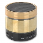 Portable 3W Bluetooth v3.0 Stereo Speaker w/ Mic / Hands-Free / TF / AUX - Black + Golden
