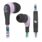 GOLD FIVE STAR GFS-A101 3.5mm In-Ear Earphone w/ Mic - Green + Black