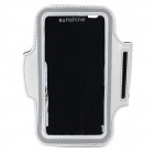 Sports Protective Neoprene + PVC Armband for HTC One 2 / M8 - Silver + Black