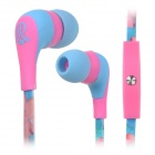 GOLD FIVE STAR GFS-A101 3.5mm In-Ear Earphone w/ Mic - Pink + Blue