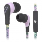 GFS GFS-A101 3.5mm In-Ear Earphone w/ Mic - Black + Light Purple + Green + Yellow