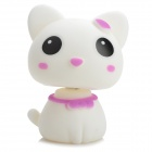 Head Shaking Cute Cat Style Toy for Car Decoration - White