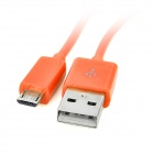 103B Micro USB Charging / Data Round Cable for Samsung / HTC / Xiaomi + More - Orange (100cm)