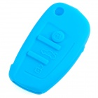 GEL14031613 Silicone Car Key Case for Audi A1 / A3 / Q3 / Q7 / R8 / A6L / TT - Light Blue