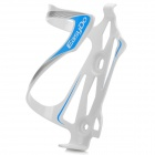 EASYDO ED-023 Outdoor Cycling Aluminum Alloy Bike Water Bottle Holder - White + Blue